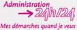 Redirection vers le site internet www.administration24h24.gouv.fr